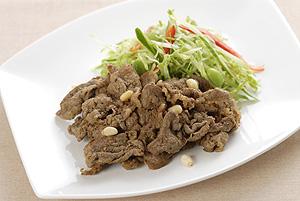 牛肉のカレーヨーグルト焼き