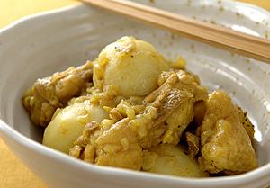 かぶと鶏肉のカレー煮こみ