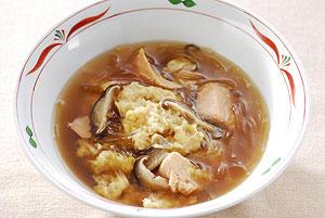 カニと鮭のオイスタースープ