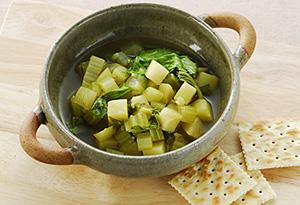 セロリとじゃがいものカレースープ煮