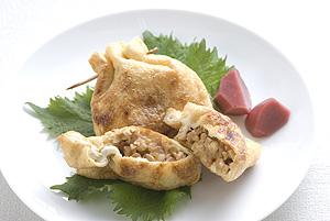 納豆とナッツの信田焼き