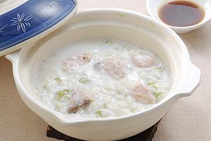 鮭とねぎのスキムミルク粥