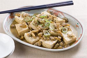 アサリと焼き豆腐の炊き合わせ