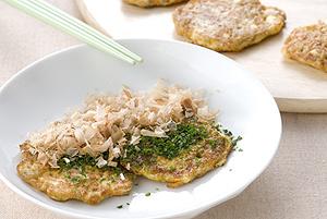 豆腐とにんじんのトロロ焼き