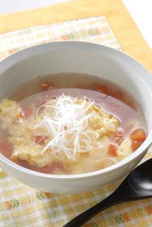 ふんわり卵とトマトのスープ