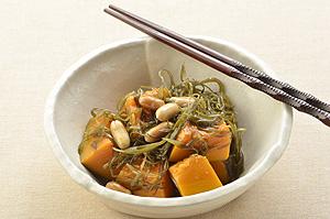 かぼちゃ・糸昆布・落花生の煮物