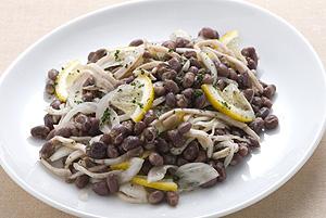 小豆とハムのマリネ
