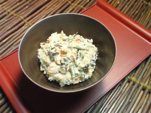 2013 08 25生鮭の味噌白和え